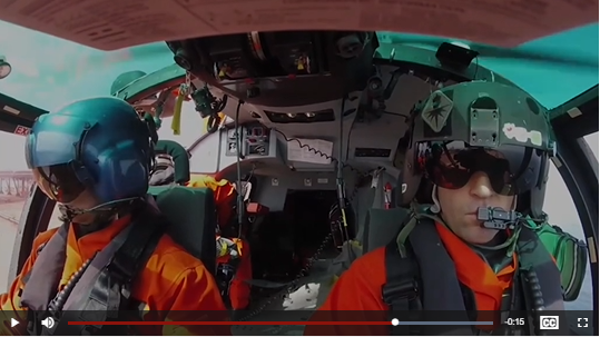 Inside a helicopter with the U.S. Coast Guard