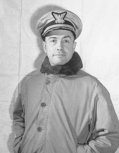 """3.Capt. Edward """"Iceberg"""" Smith, in his winter gear. Smith later became a flag officer. (U.S. Coast Guard)"""