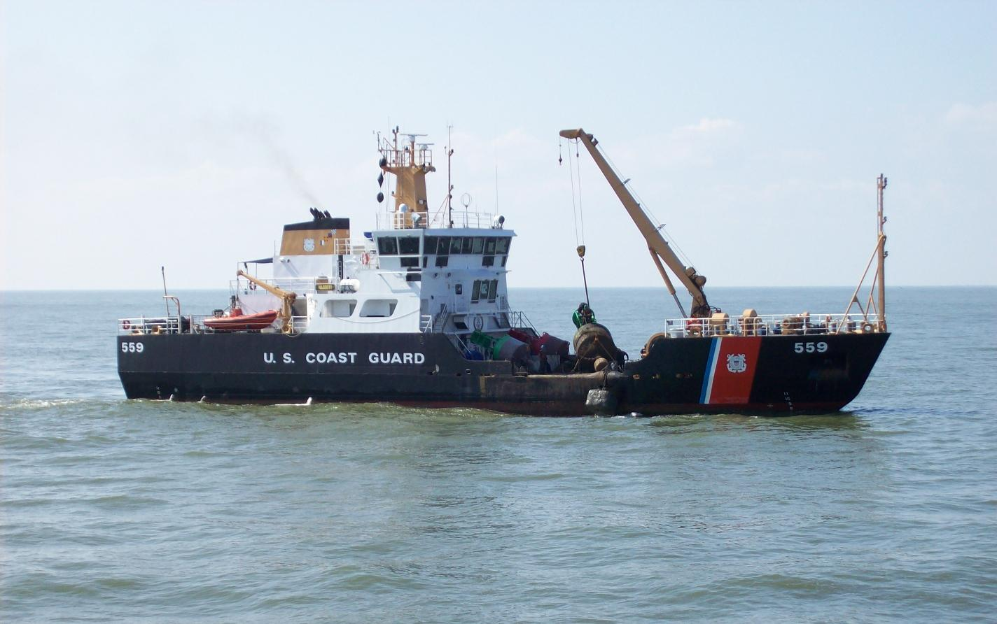 Official Service photo of namesake 175-foot Keeper-Class buoy tender Coast Guard Cutter Barbara Mabrity. (U.S. Coast Guard Collection)