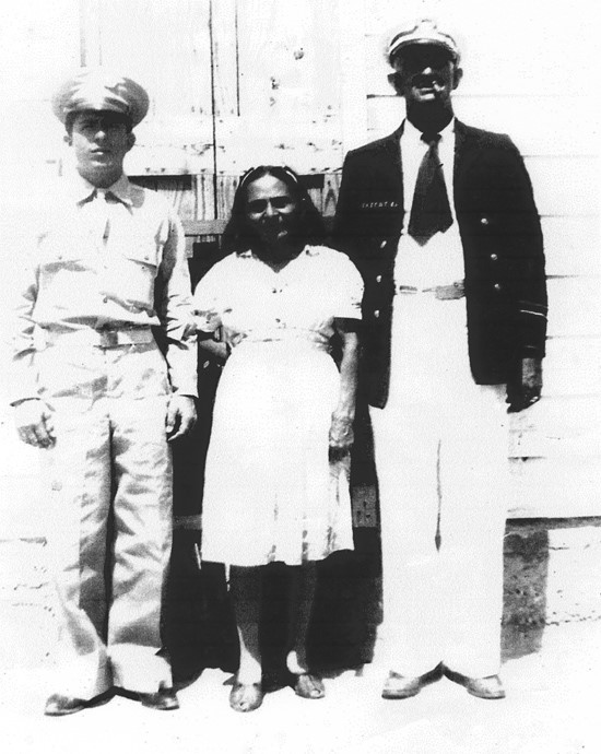 6.	Domingo Suarez Cruz with wife and son in the 1940's. (Photo courtesy Lighthouse Friends)