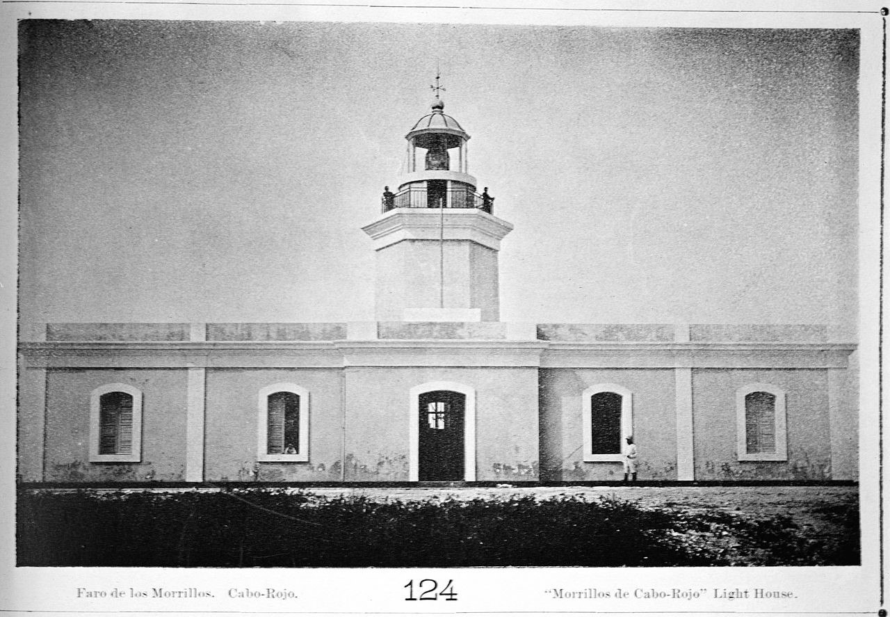 Cabo Rojo Lighthouse seen from the front in 1895. (Library of Congress)