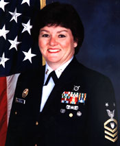 9.	Master Chief Petty Officer Diane Bucci, who broke numerous gender barriers for enlisted service women during her career.