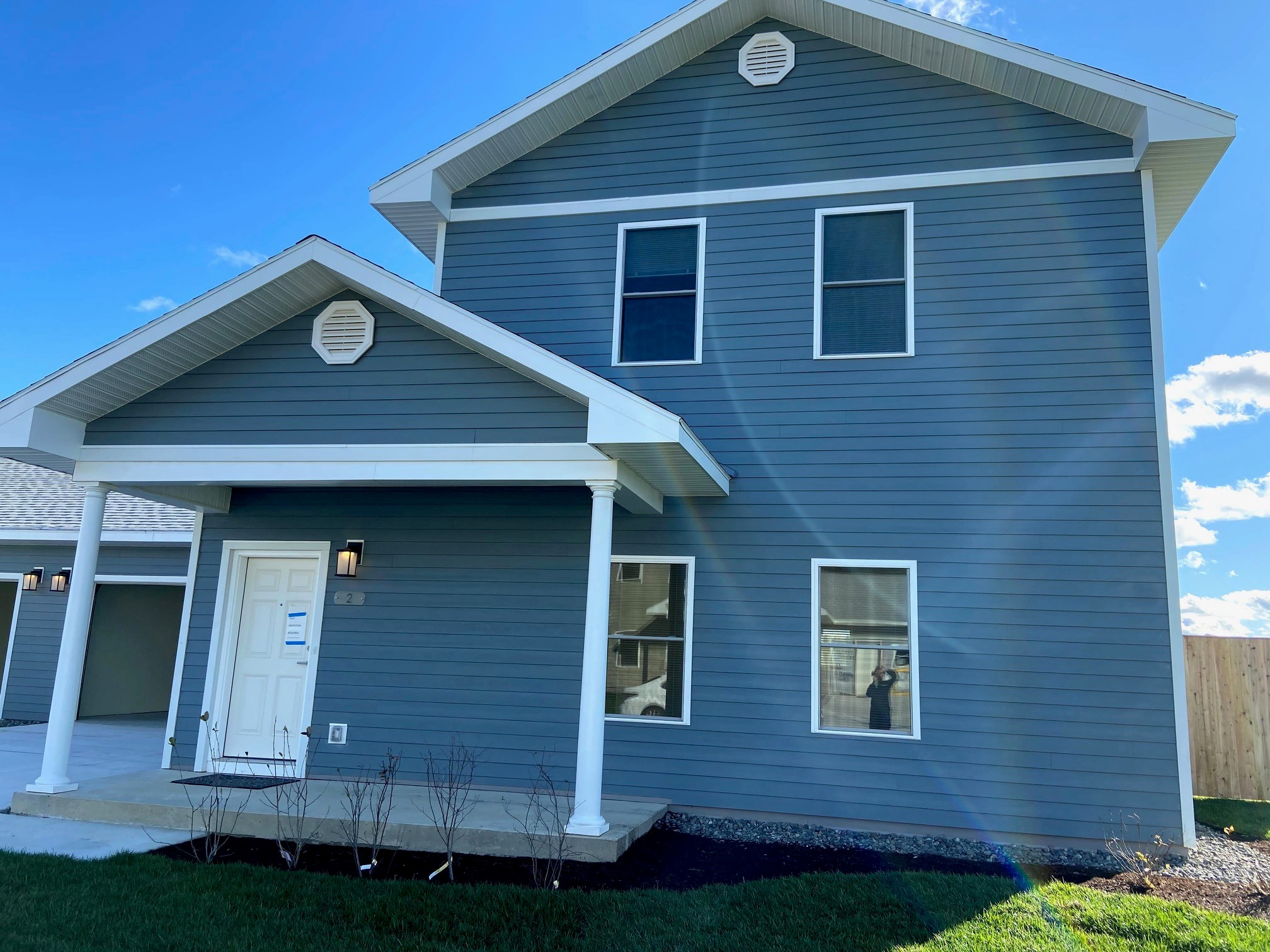 "One of 12 new housing units at USCG Station Jonesport, where the Coast Guard station is the centerpost of a small fishing village in rural ""down East"" Maine."