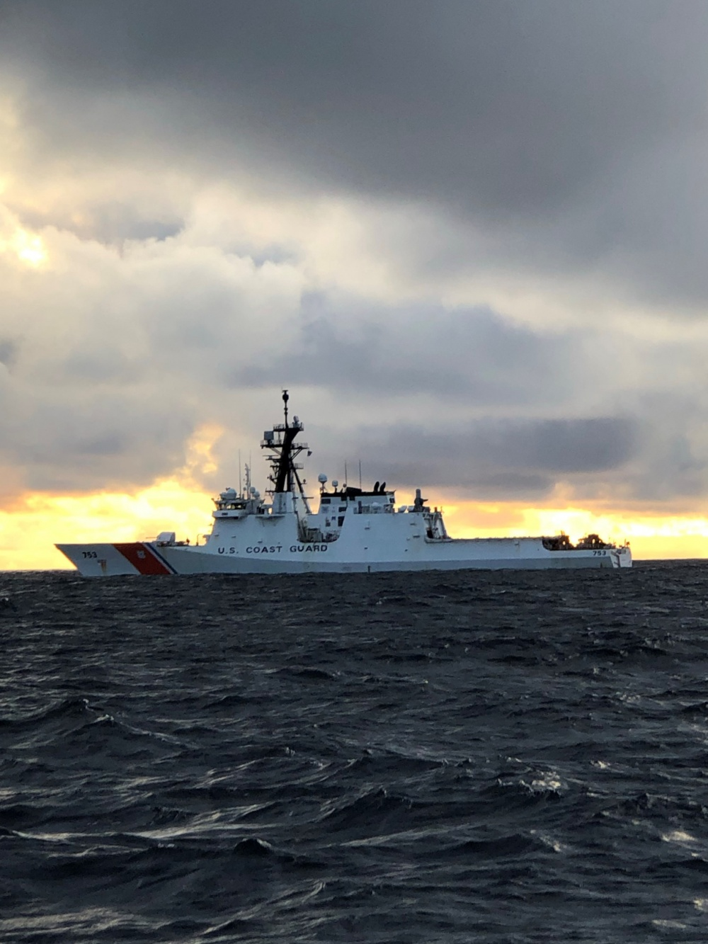 The U.S. Coast Guard Cutter Hamilton (WMSL-753) underway in the Eastern Pacific Ocean, August 19, 2020. The Coast Guard Cutter Hamilton is one of two 418-foot National Security Cutters homeported in Charleston. (U.S. Coast Guard Photo)
