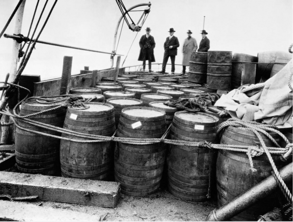 A mothership sailing offshore with a load of illegal liquor. (U.S. Coast Guard)