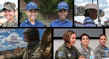 Female faces of the military. Take the Women's Health survey